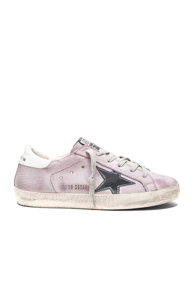 Golden Goose Suede Superstar Low Sneakers in Lilac