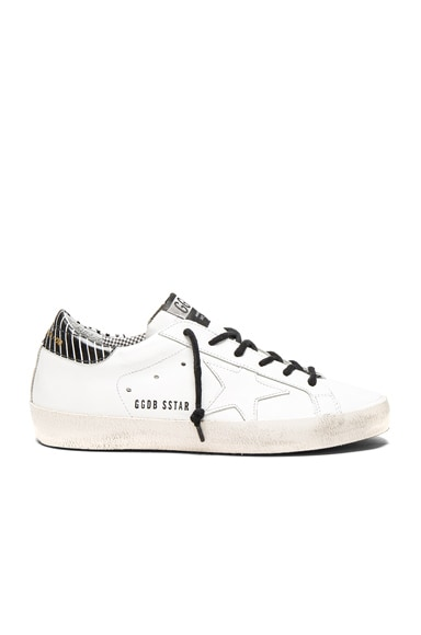 Golden Goose Leather Superstar Low Sneakers in Optical