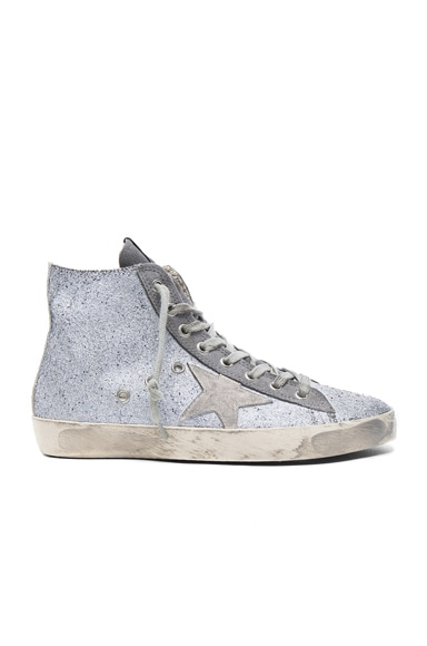 Golden Goose Francy Sneakers in Gunmetal Glitter