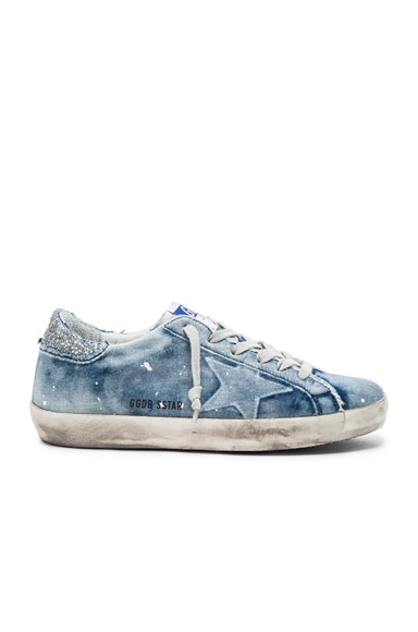 Golden Goose Denim Superstar Low Sneakers in Bleached
