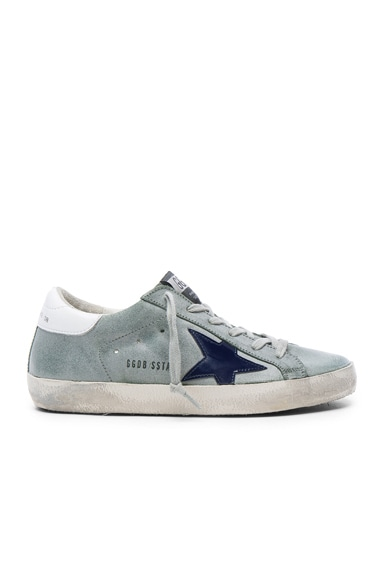 Golden Goose Leather Superstar Low Sneakers in Sage Green