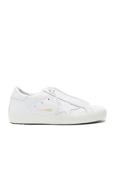 Golden Goose Leather Superstar Low Sneakers in Smock White