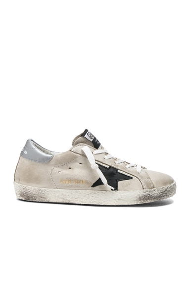 Golden Goose Leather Superstar Low Sneakers in Cream & Black