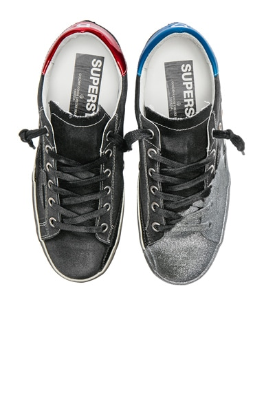 Golden Goose David Bowie Superstar Low Sneakers in Black & Silver