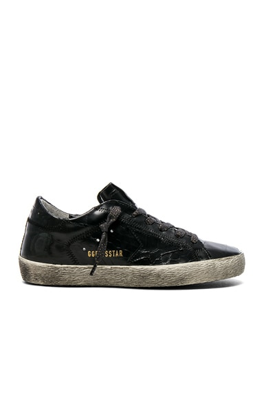Croc Embossed Leather Superstar Sneakers