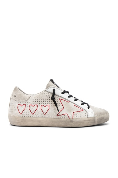 Hearts and Star Superstar Sneakers