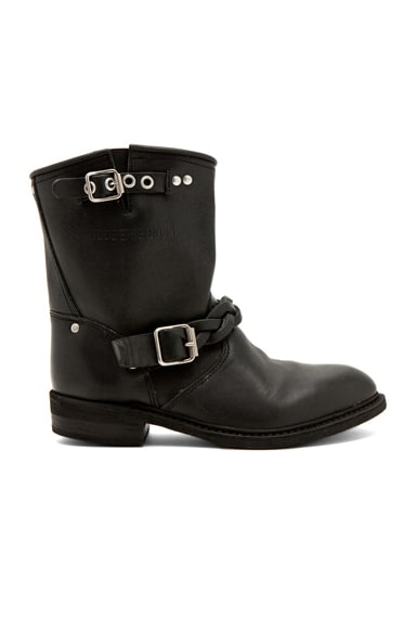 Leather Short Biker Boots