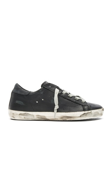 Golden Goose Leather Superstar Low in Black Skate