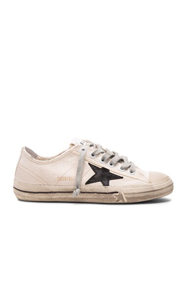 Golden Goose V Star 2 Sneakers in Natural Canvas