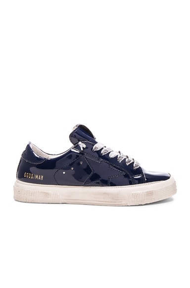 Golden Goose May Sneakers in Blue Navy Gloss