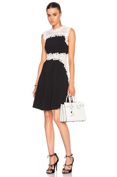 Giambattista Valli Lace & Crepe Cady Dress in Black