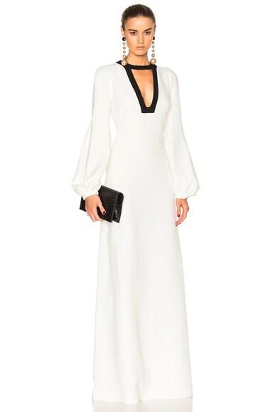 Giambattista Valli Cady Column Gown in Ivory