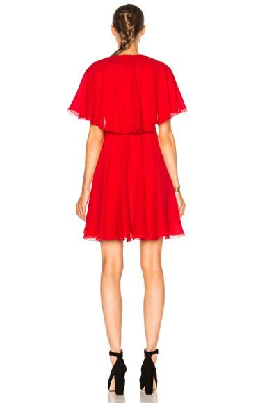 Georgette Lace Insert Dress