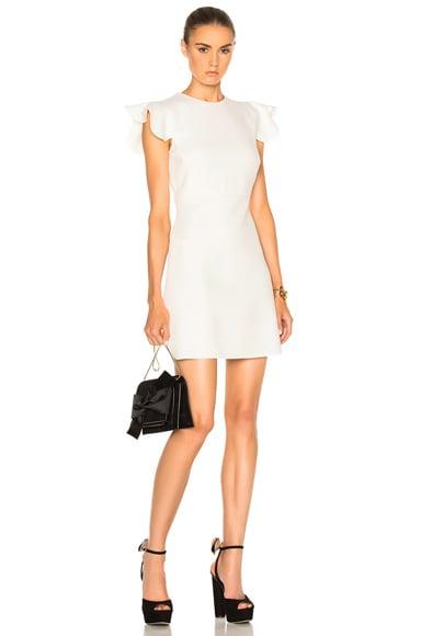 Giambattista Valli Ruffle Sleeve Mini Dress in White