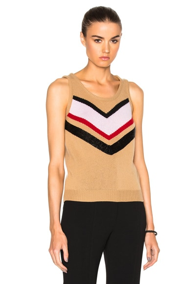 Giambattista Valli Embroidered Sweater in Beige