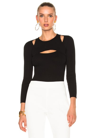 Giambattista Valli Cut Out Sweater in Black