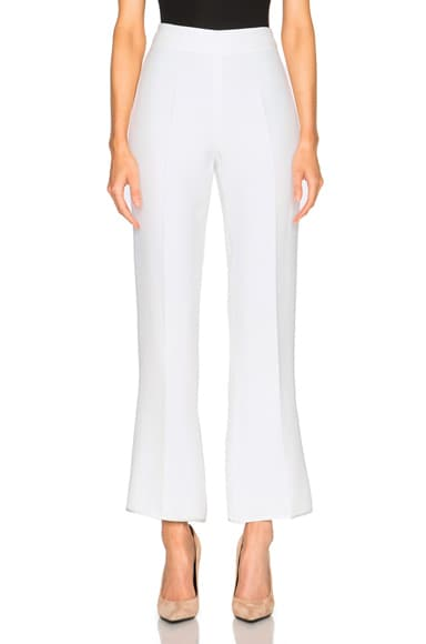 Giambattista Valli Cropped Flare Cady Trousers in White