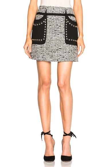 Giambattista Valli Sparkly Tweed Mini Skirt in Black