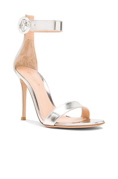Metallic Leather Portofino Heels