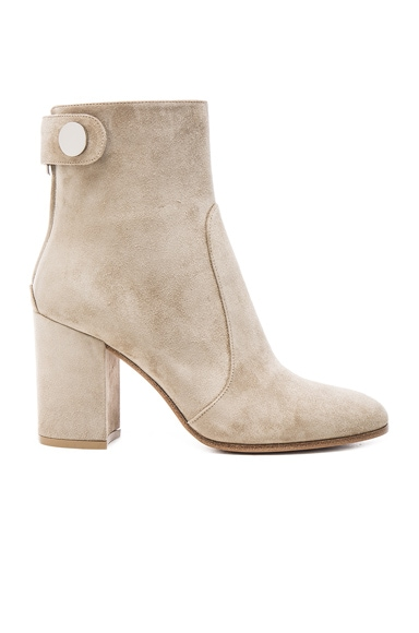 Gianvito Rossi Suede Chunky Heel Boots in Cachemire