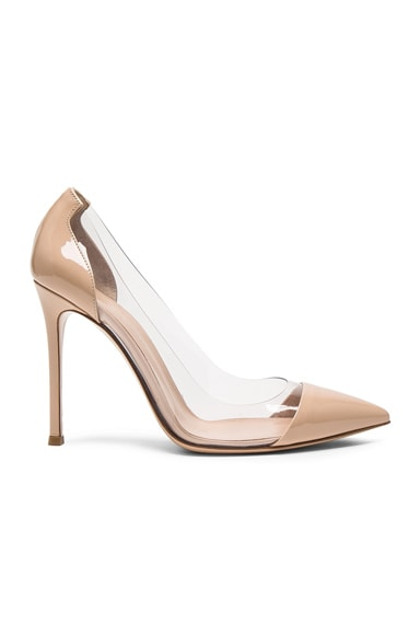 Patent Leather Plexi Pumps