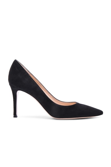 Gianvito Rossi Suede Heels in Black