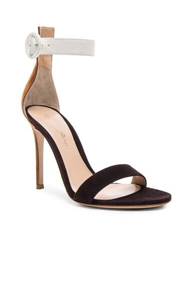 Tri Color Suede Portofino Heels