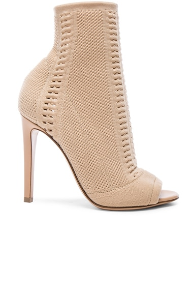 Gianvito Rossi Knit Booties in Nude