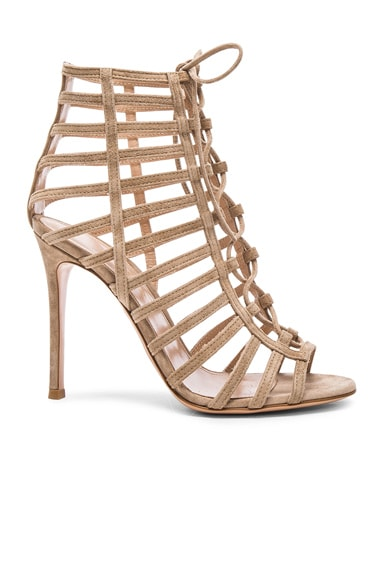 Gianvito Rossi Lace Up Heels in Bisque