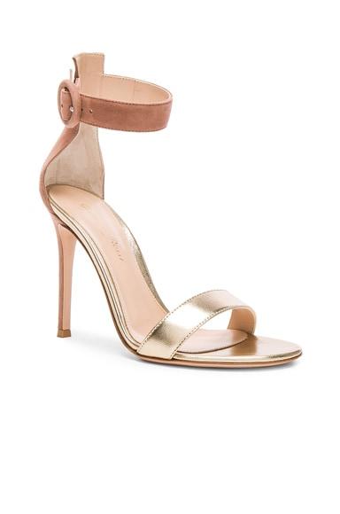Leather & Suede Portofino Heels