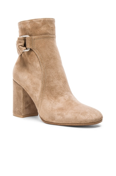 Suede Belted Ankle Boots