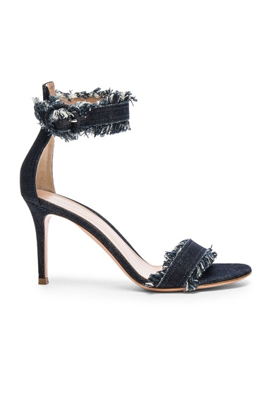 Gianvito Rossi Denim Portofino 85 Heels in Denim