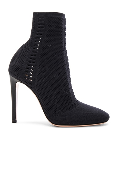 Gianvito Rossi Knit Booties in Black