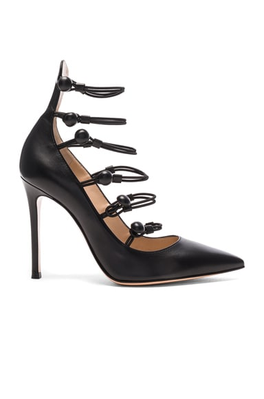 Gianvito Rossi Leather Strap Sandals in Black