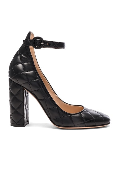 Gianvito Rossi Quilted Leather Heels in Black