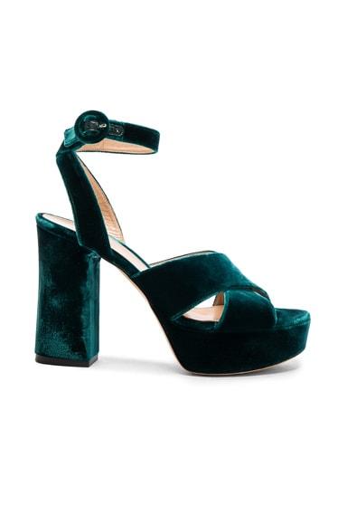 Velvet Platform Heels