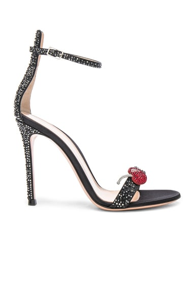 Crystal Embellished Ankle Strap Sandals