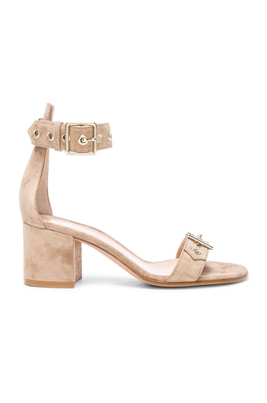 Suede Buckle Detail Sandals