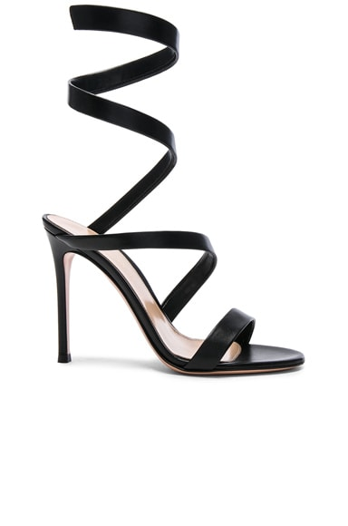 Gianvito Rossi Leather Opera Sandals in Black