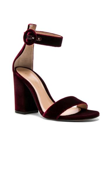 Velvet Versilia Block Heels
