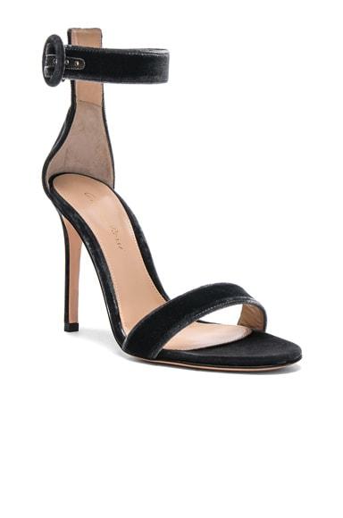 for FWRD Velvet Portofino Heels
