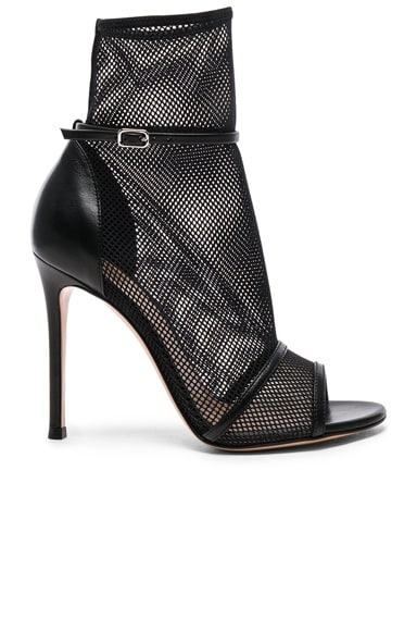 Leather & Mesh Idol Heels