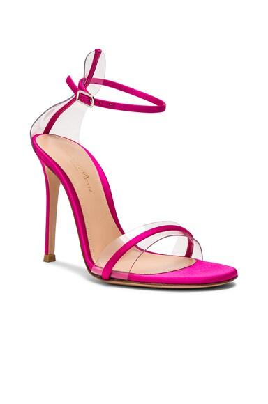 Satin Plexi G String Heels