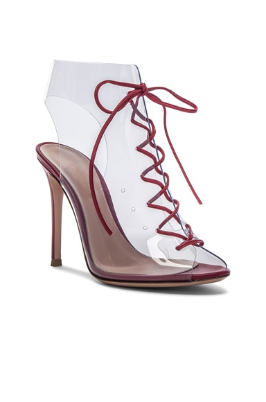 Leather & Plexi Helmut Lace Up Booties