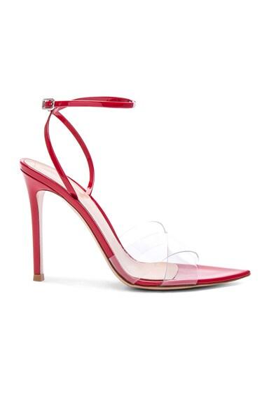 Patent & Plexi Stark Ankle Strap Sandals