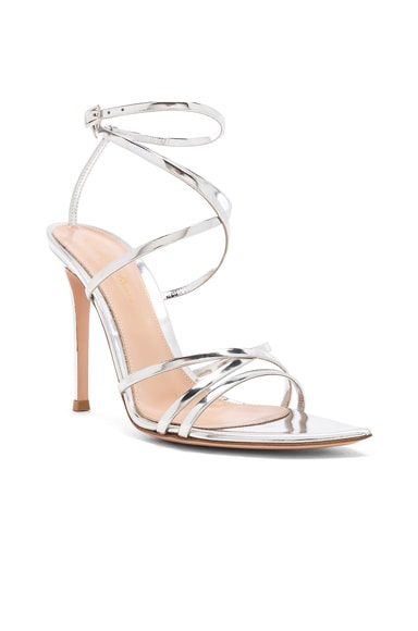 Metallic Leather Kim Cross Strap Sandals