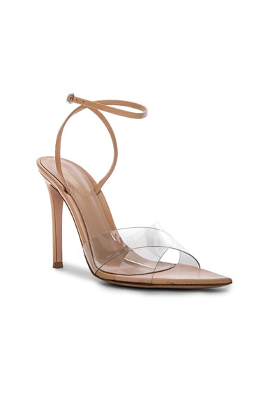 Leather & Plexi Stark Ankle Strap Sandals