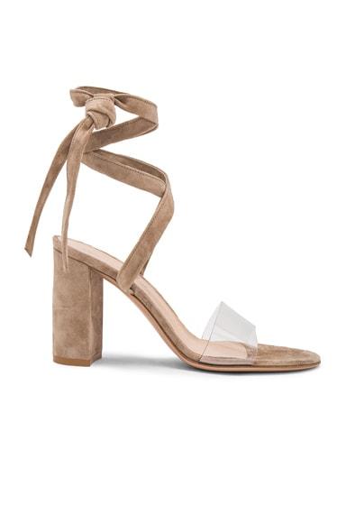 Leather Amp Plexi Strappy Sandals