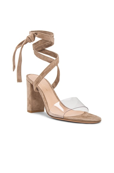 Leather & Plexi Strappy Sandals