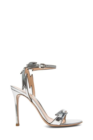 Lightening Bolt Metallic Leather Heels